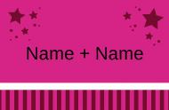 Namen mit Sternen pink