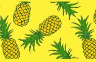 Ananas gelb 75x50 cm