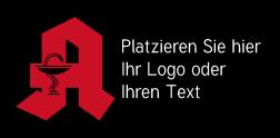 Logomatte Apotheke schwar