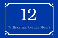 HausnummerSchild blau