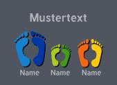 Fußpaare Familie 3xbunt