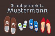Schuhparkplatz 75x50cm