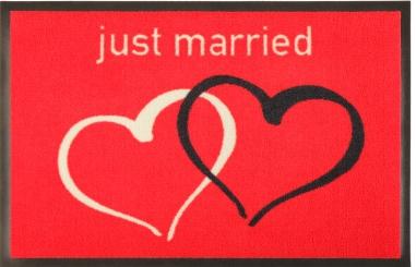 Geschenke zur Hochzeit, Fußmatten mit Herzen und Namen