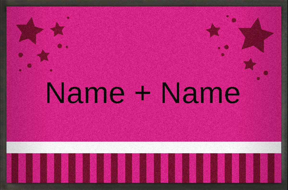 MyMat.de Fußmatte mit Sternen pink