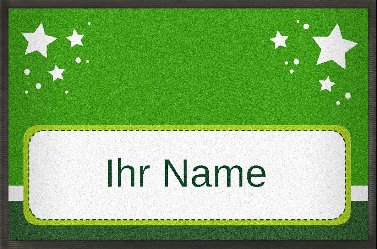 MyMat.de Fußmatte mit Sternen und Name