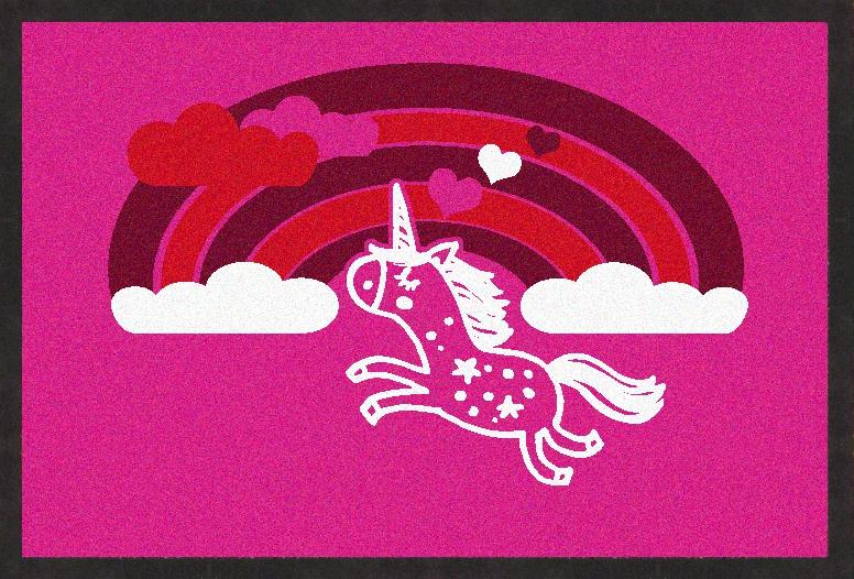 MyMat.de Fußmatte Einhorn pink 75x50 cm