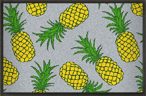 Fußmatten Sommermatte mit Ananas Design grau