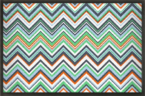 Fußmatten Fußmatte »Zickzack« bunt bedruckt, gestalten