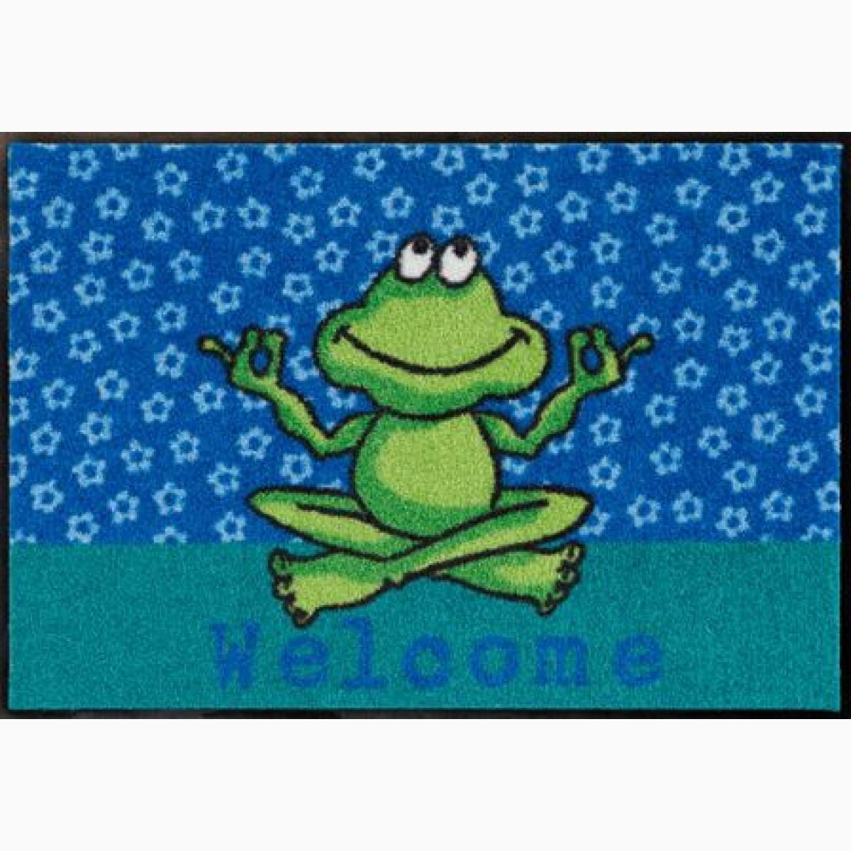 Fußmatte Yoga Frosch