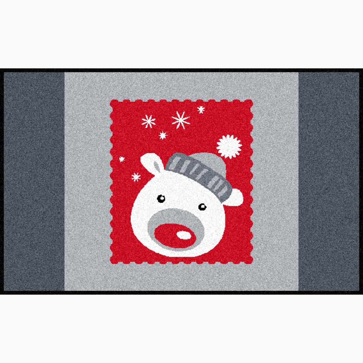 Fußmatte Weihnachtsbär Floroptik