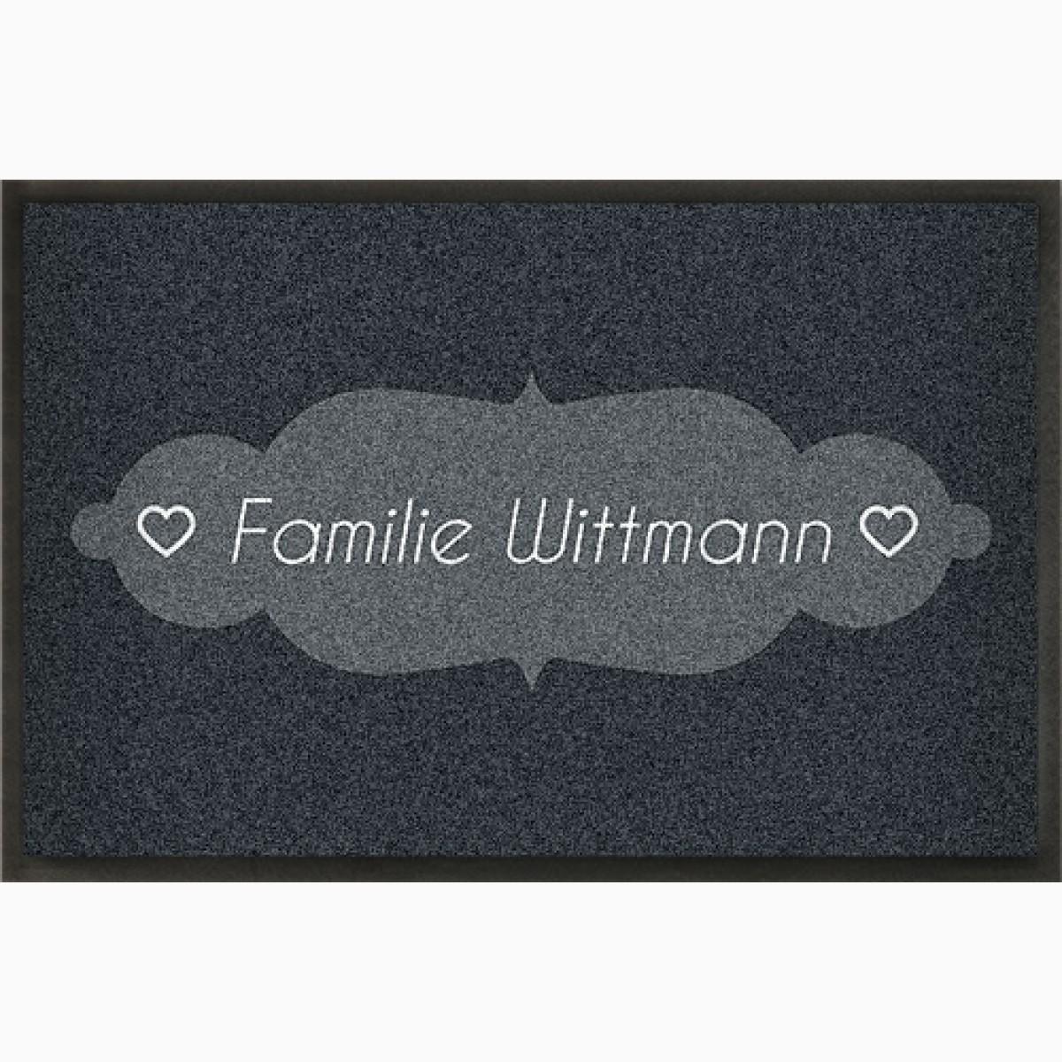 Fußmatte »Klingelschild« mit Namen, Familie