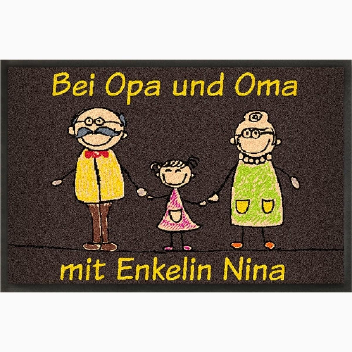Fußmatte »Hotel Oma Opa« mit eigenem Text