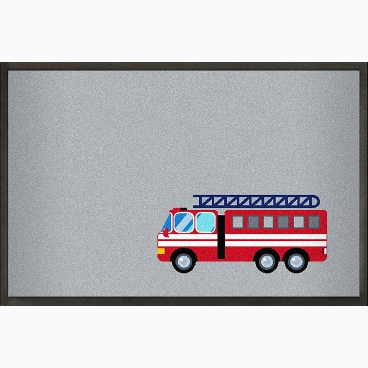 Fußmatte mit Feuerwehrmotiv Floroptik