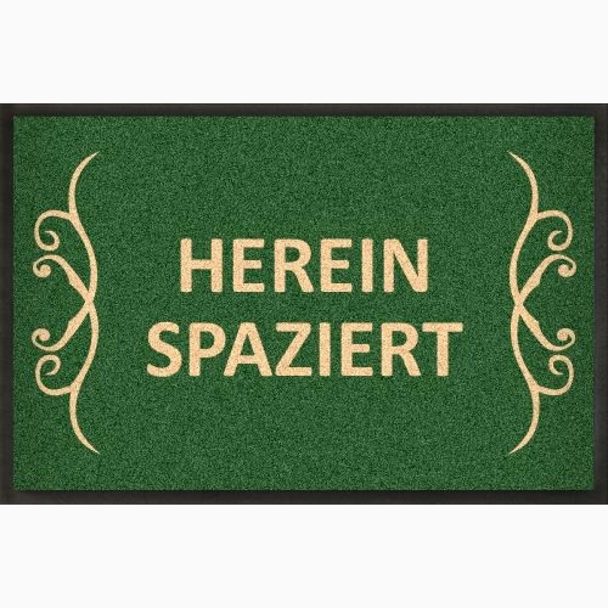 Fußmatte grün mit Ornament Flor