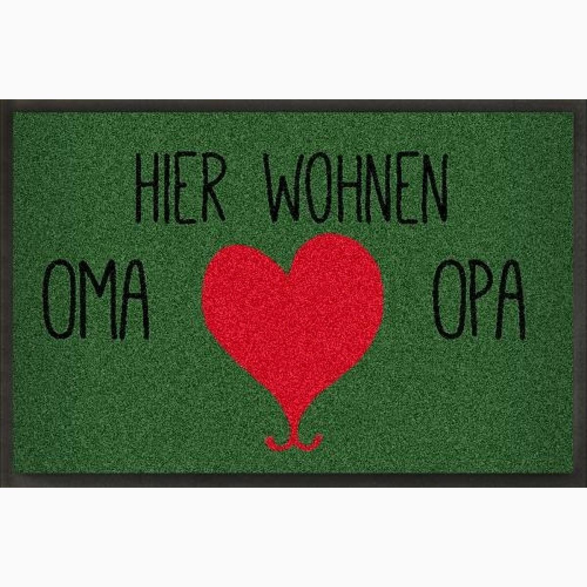 Fußmatte Oma und Opa Floroptik