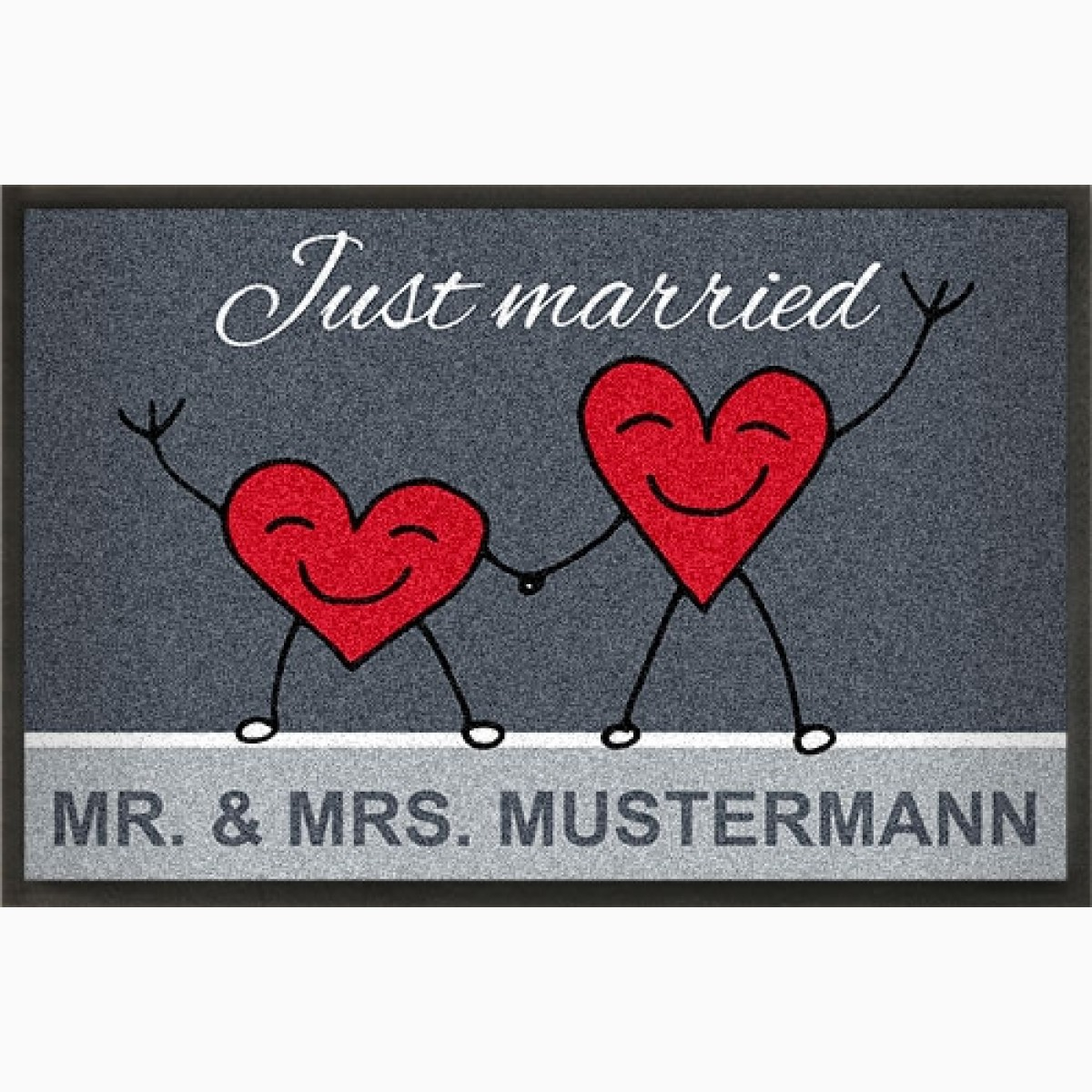 Fußmatte »Rote Herzen « gestalten zur Hochzeit