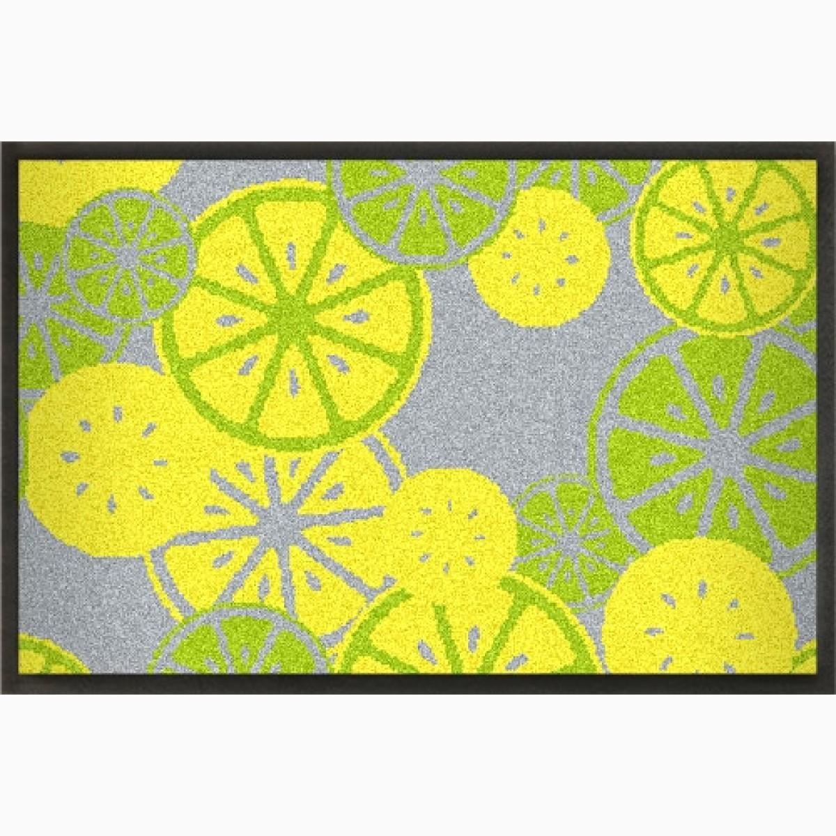 """Sommerliche Fußmatte """"Zitronen"""" zum Gestalten 120x75 cm"""