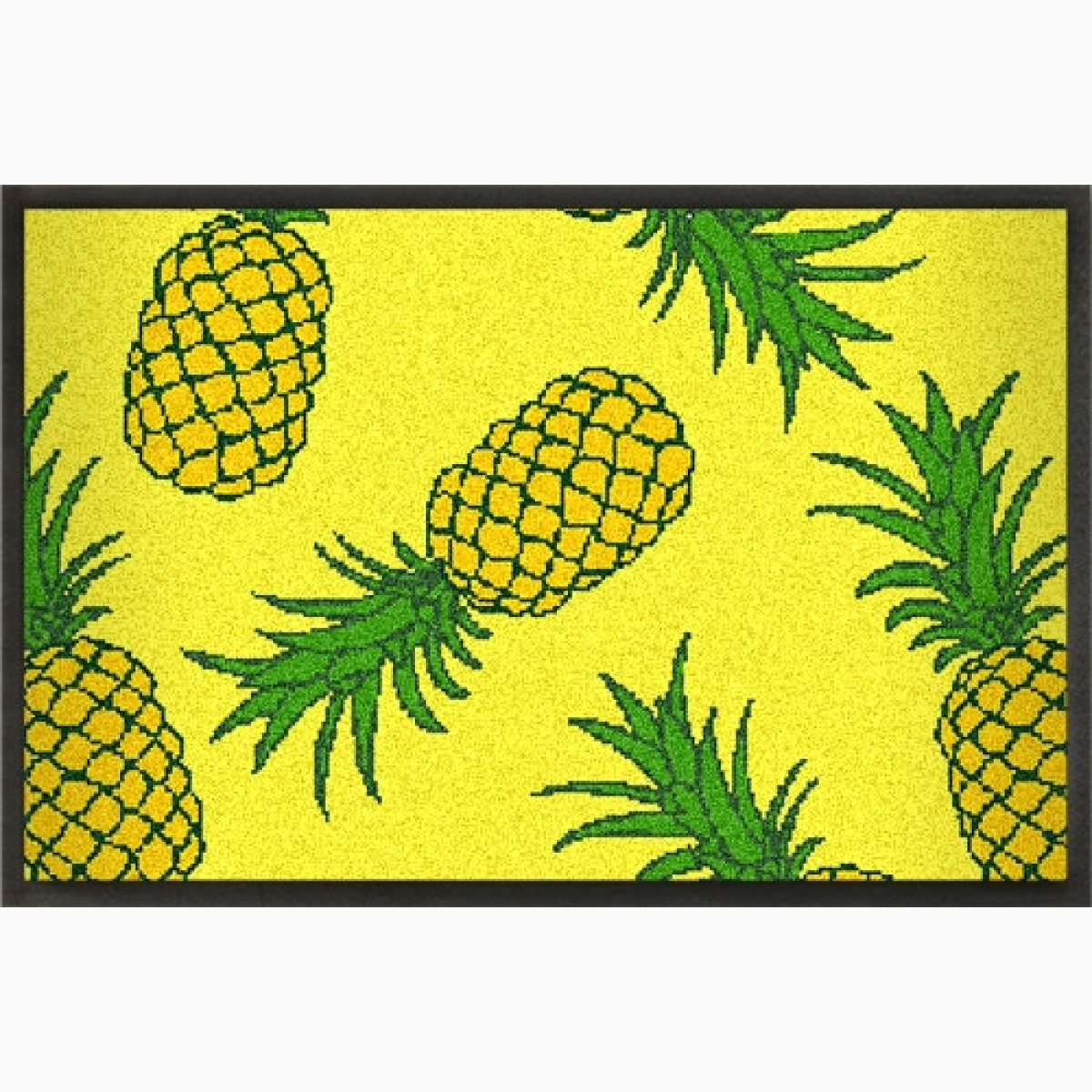 Sommermatte mit Ananas Design gelb 75x50 cm
