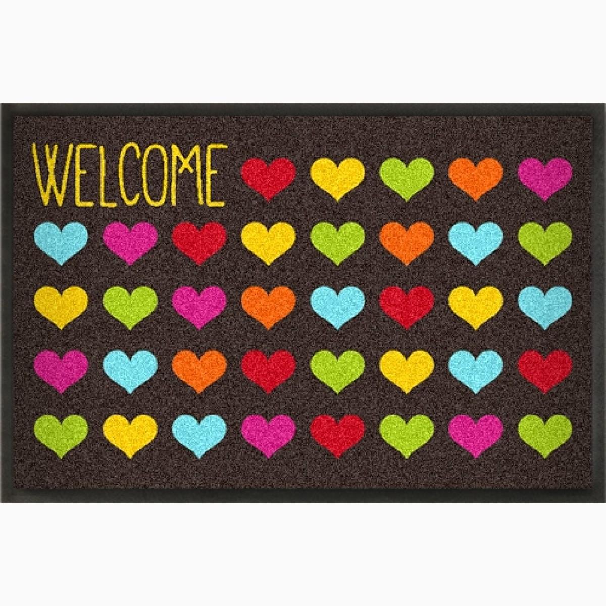 Fußmatte Welcome Hearts zum Personalisierern