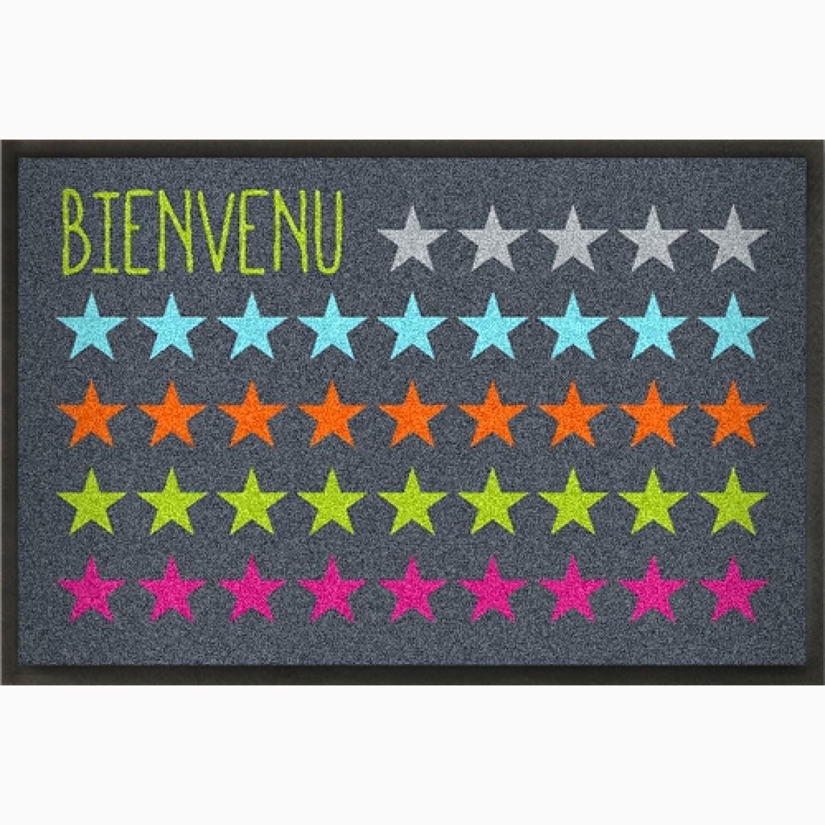 Fußmatte Bienvenue mit Sternen