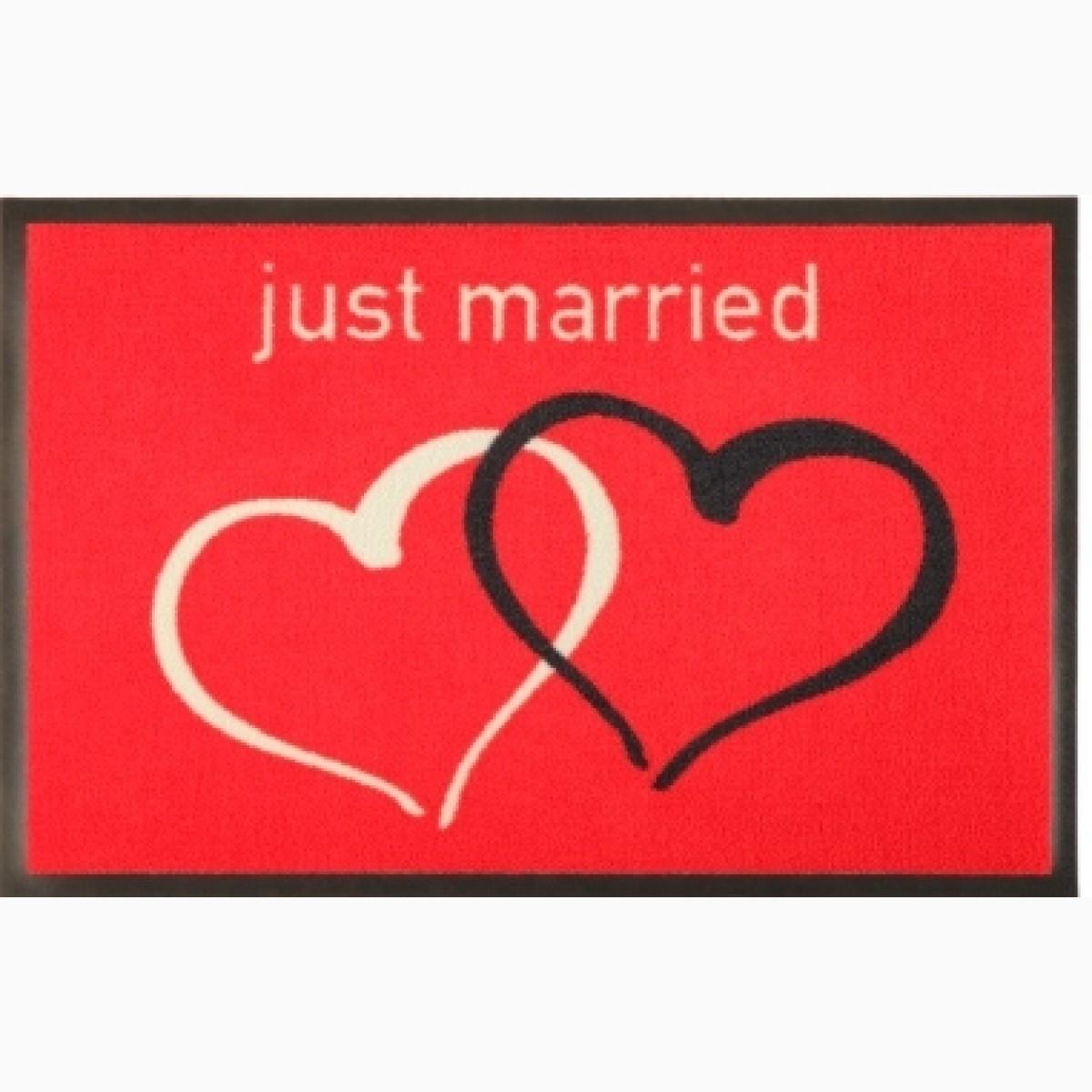 Fußmatte Herzen just married Situation