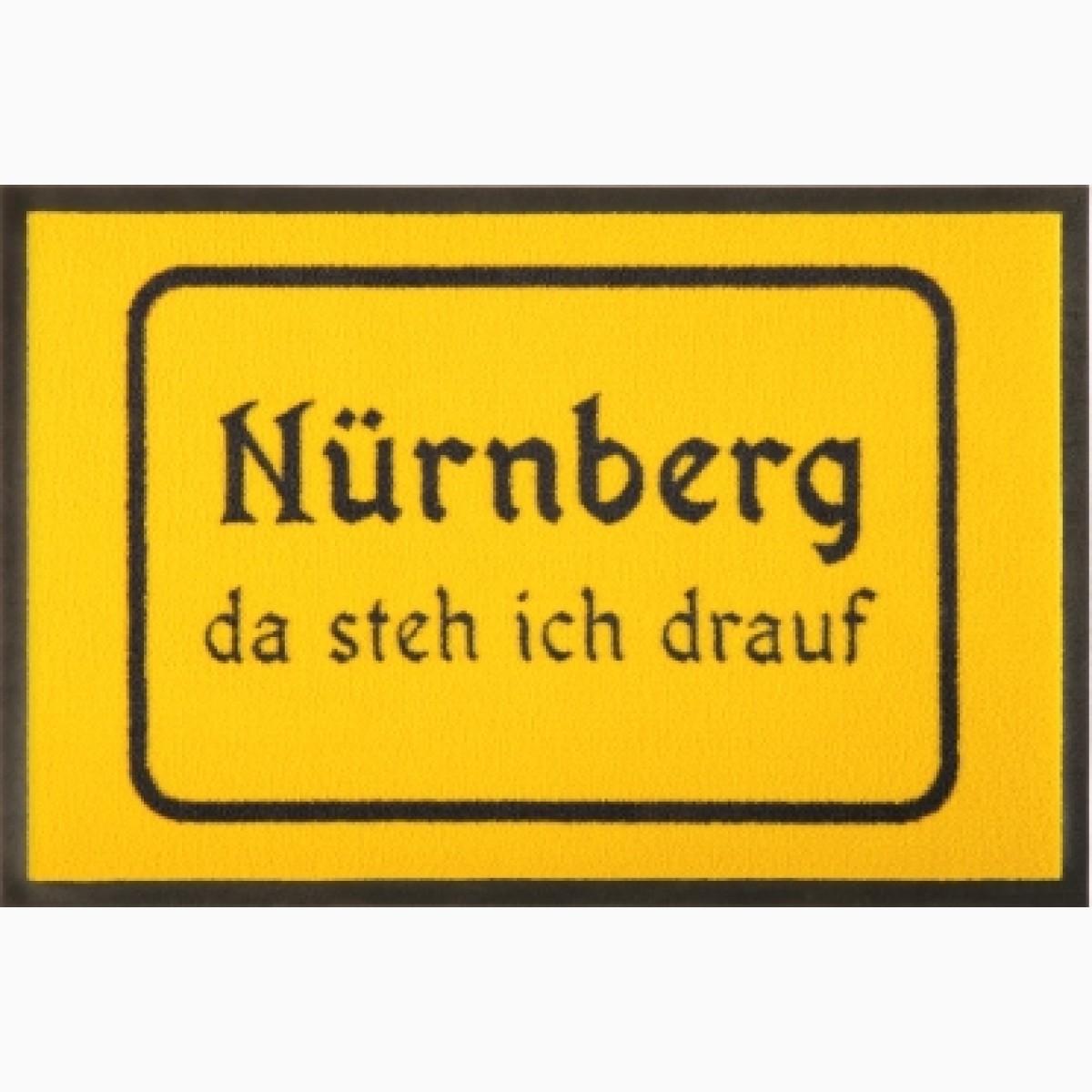 Fußmatte Ortsschild Nürnberg