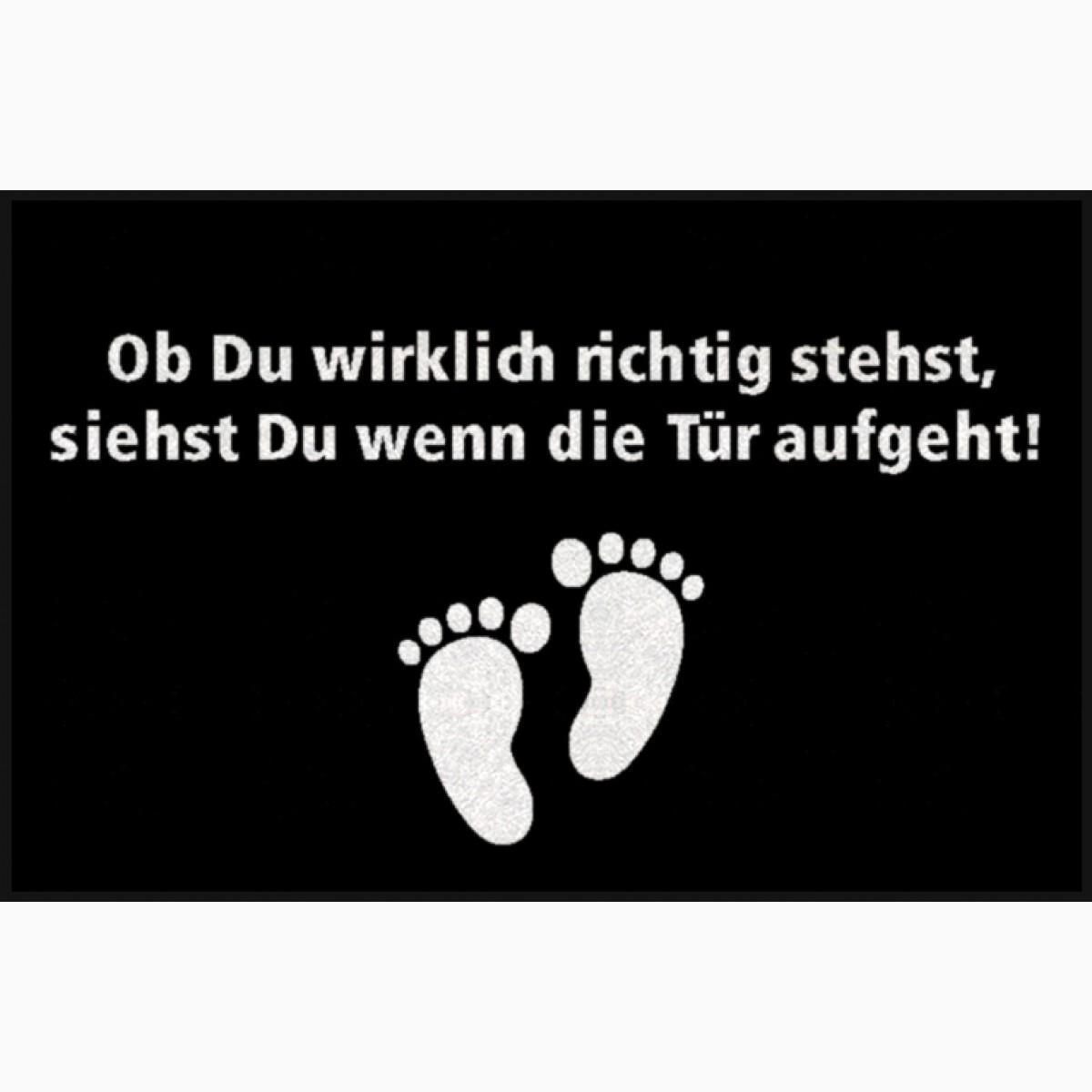 """Personalisierbare Fußmatte mit Texte """"Ob Du wirklich..."""""""