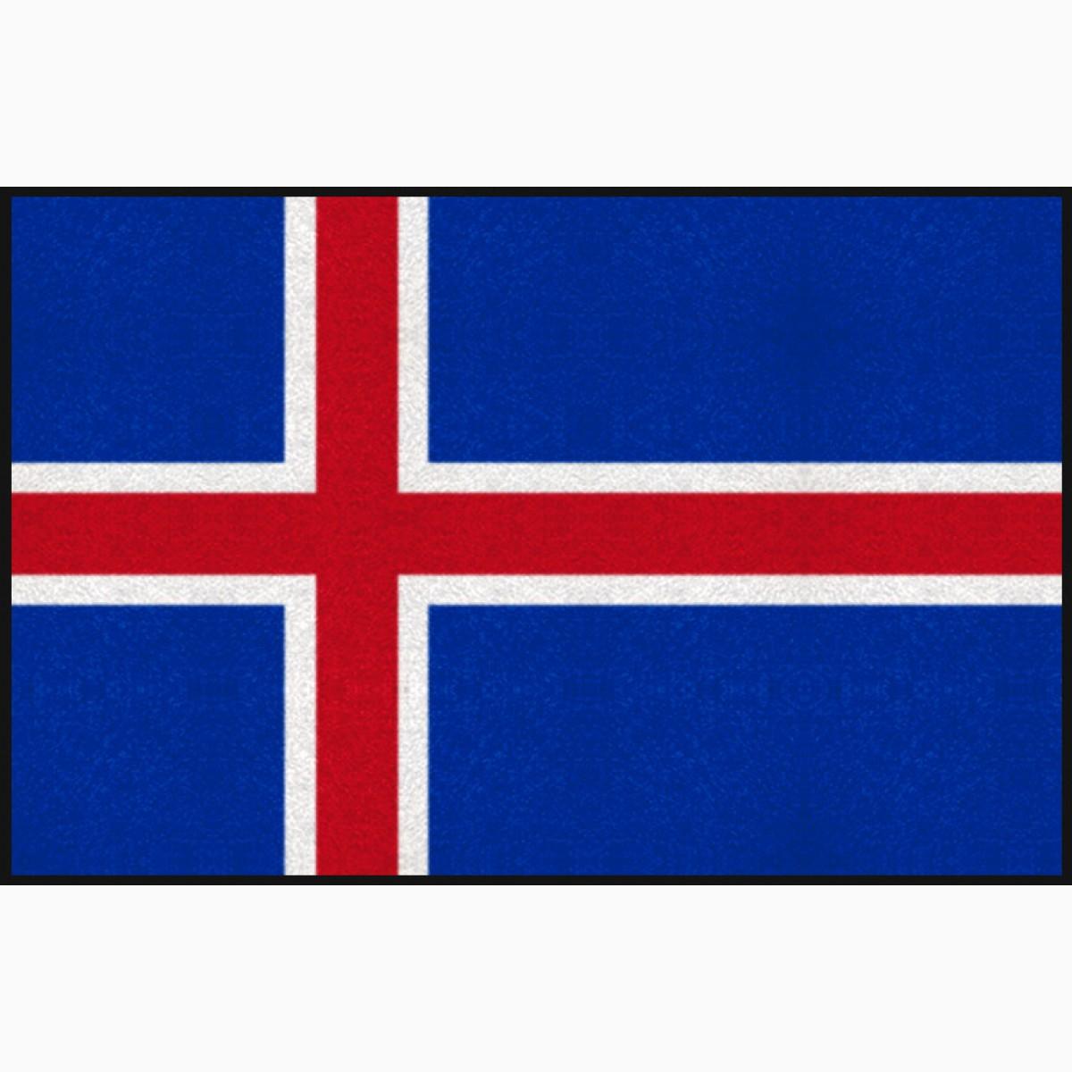 Fußmatte Island