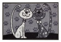Fußmatte Katzenpärchen