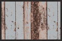 Fußmatte Bretterboden in Holzoptik