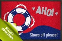 Fußmatte »Ahoi« mit Rettungsring gestaltbar