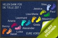 Gestaltbare Fußmatte Füßchen und Namen
