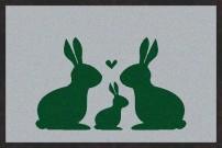 Fußmatte Hasen Familie