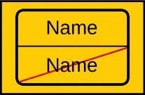 Fußmatte Ortsschild Name