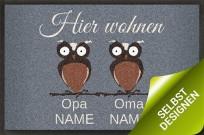 Fußmatte Oma und Opa selbst designen