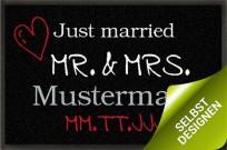 Fußmatte gestaltbar Mr & Mrs zur Hochzeit