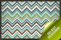 Fußmatte 200x115 ZickZack Muster