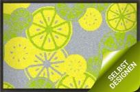 """Sommerliche Fußmatte """"Zitronen"""" zum Gestalten 75x50 cm"""