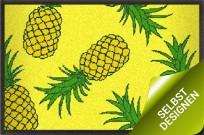 Sommermatte mit Ananas Design gelb 150x75 cm