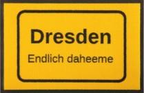 Fußmatte Ortsschild Dresden