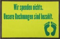 Fußmatte Spenden nichts