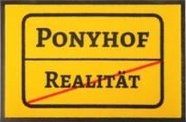 Fußmatte Ortsschild Ponyhof