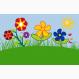 Fußmatte Blumenwiese
