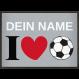 Fußmatte I Love Fußball Aktionsmatte