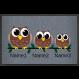 Fußmatte »Eulenfamilie « mit eigenem Text