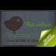 Fußmatte »Vogel « mit eigenem Text