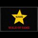 Fußmatte »Walk of fame « mit Namen