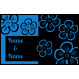 Fußmatte Flowers mit Rand