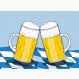 Fußmatte Bierkrüge Druckdatei