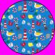Fußmatte Matrose rund 100 cm Druckdatei